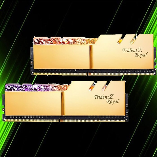 رم جی اسکیل Trident Z Royal Gold 32GB 16GBx2 3200MHz CL16