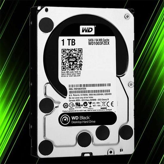 هارد اینترنال وسترن دیجیتال WD Black 1TB 64MB Buffer