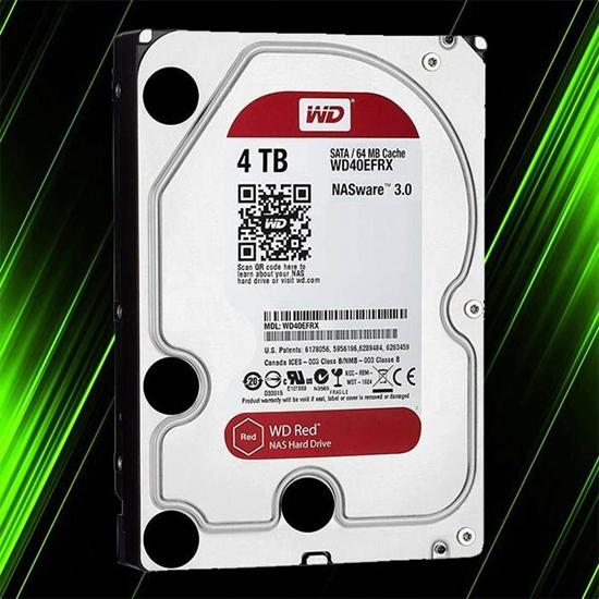 هارد اینترنال وسترن دیجیتال RED NAS 4TB 64MB Buffer