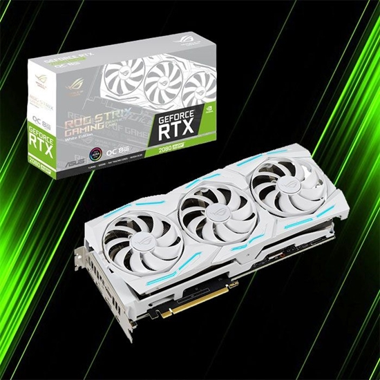 کارت گرافیک ایسوس ROG STRIX RTX2080S O8G WHITE GAMING