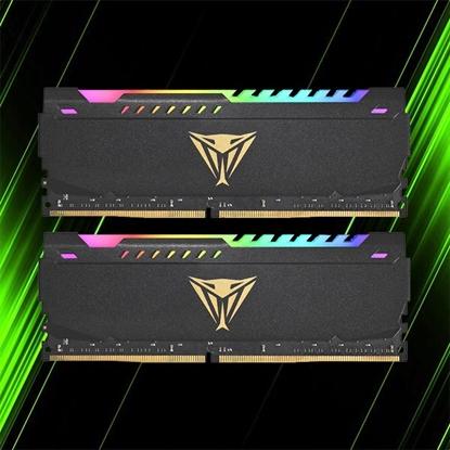 قیمت رم پاتریوت Viper STEEL RGB 32GB 16GBX2 3200MHz CL18